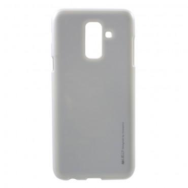 Goospery iJelly Case TPU géles védőtok Samsung Galaxy A6 Plus 2018 készülékekhez – ezüstszínű