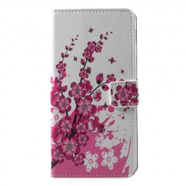 """Divatos """"Flower Bloom"""" tárca Samsung Galaxy A6 Plus 2018 készülékekhez"""