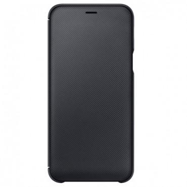 """Eredeti """"Wallet Cover"""" védőtok Samsung Galaxy A6 2018 - fekete"""