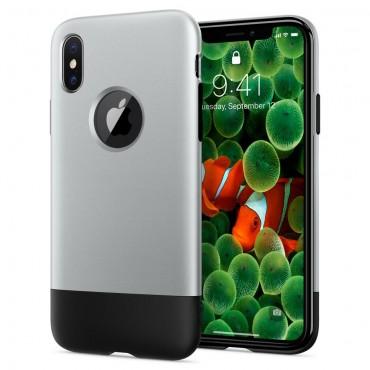 """Tok Spigen """"Classic One"""" iPhone X készülékekhez - aluminum gray"""