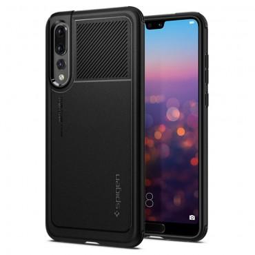 """Tok Spigen """"Marked Armor"""" Huawei P20 Pro készülékekhez - black"""