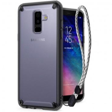 """Ringke """"Fusion"""" védőtok Samsung Galaxy A6 2018 készülékekhez - smoke black"""