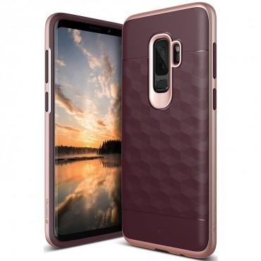 Caseology Parallax Series védőtok Samsung Galaxy S9 Plus készülékekhez – burgundy
