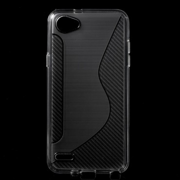 S-Line TPU géles védőtok LG Q6 készülékekhez – átlátszó