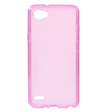 """TPU gél tok """"S-Line"""" LG Q6 készülékekhez - rózsaszín"""