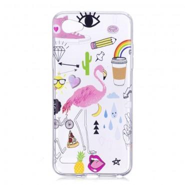 """Divatos TPU géles """"Flamingo"""" védőtok LG Q6 készülékekhez"""