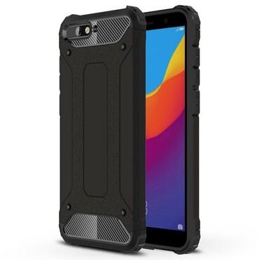 """Strapabíró """"Rock"""" védőtok Huawei Y6 2018 / Honor 7A készülékekhez – fekete"""