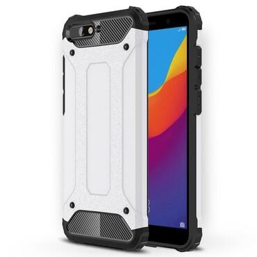"""Strapabíró """"Rock"""" védőtok Huawei Y6 2018 / Honor 7A készülékekhez – fehér"""