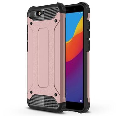 """Strapabíró """"Rock"""" védőtok Huawei Y6 2018 / Honor 7A készülékekhez – rózsaszín"""