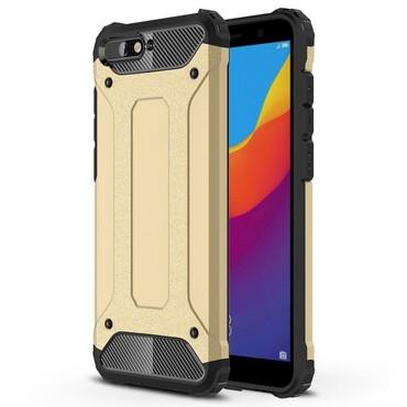 """Strapabíró """"Rock"""" védőtok Huawei Y6 2018 / Honor 7A készülékekhez – aranyszínű"""