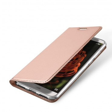 """Divatos """"Skin"""" műbőr tárca Huawei Y6 2018 / Honor 7A készülékekhez – rózsaszín"""