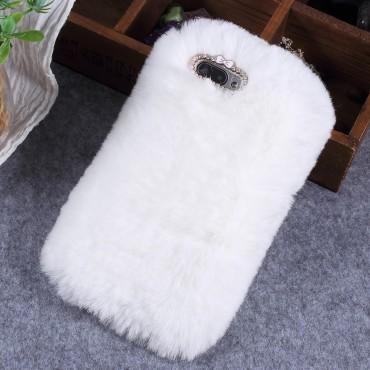 """Divatos tok """"Fluffy"""" Huawei Honor 10 készülékekhez - fehér"""