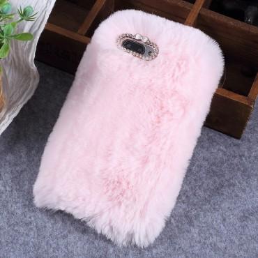 """Divatos tok """"Fluffy"""" Huawei Honor 10 készülékekhez - rózsaszín"""