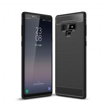Brushed Carbon TPU géles védőtok Samsung Galaxy Note 9 készülékekhez – fekete