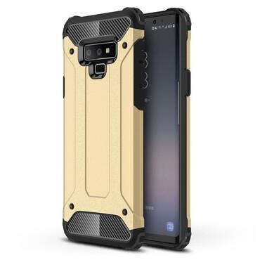 """Strapabíró """"Rock"""" védőtok Samsung Galaxy Note 9 készülékekhez – aranyszínű"""
