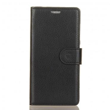 """Elegáns """"Litchi"""" tárca Samsung Galaxy Note 9 készülékekhez – fekete"""