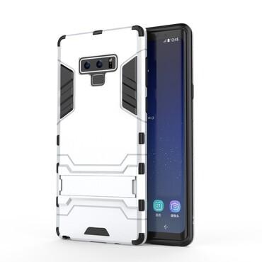 """Strapabíró """"Impact X"""" védőtok Samsung Galaxy Note 9 készülékekhez – ezüstszínű"""
