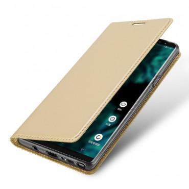 """Divatos """"Skin"""" műbőr tárca Samsung Galaxy Note 9 készülékekhez – aranyszínű"""