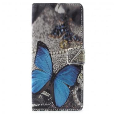 """Divatos """"Blue Buttefly"""" tárca Samsung Galaxy Note 9 készülékekhez"""