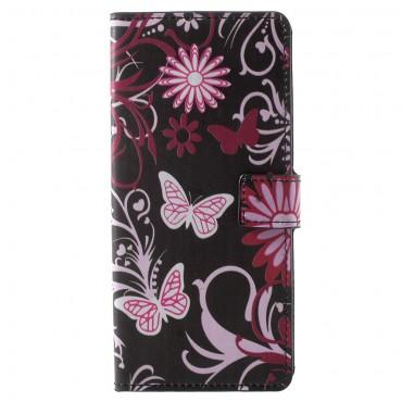 """Divatos """"Flower World"""" tárca Samsung Galaxy Note 9 készülékekhez"""
