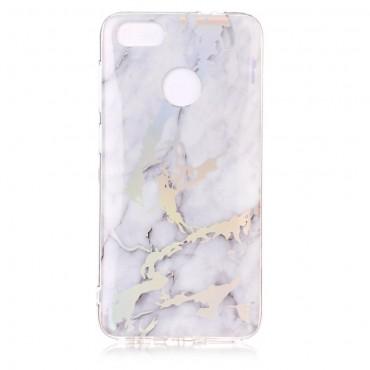 Marble divatos védőtok Huawei P9 Lite Mini készülékekhez – fehér