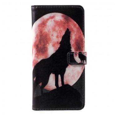 """Divatos """"Howling Wolf"""" tárca Huawei P Smart készülékekhez"""