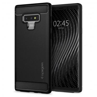 """Spigen """"Rugged Armor"""" védőtok Samsung Galaxy Note 9 készülékekhez – fekete"""
