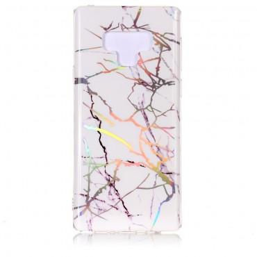 Marble divatos védőtok Samsung Galaxy Note 9 készülékekhez – fehér