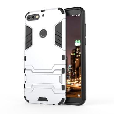 """Strapabíró """"Impact X"""" védőtok Huawei Y7 Prime 2018 / Y7 2018 készülékekhez – ezüstszínű"""