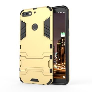 """Strapabíró """"Impact X"""" védőtok Huawei Y7 Prime 2018 / Y7 2018 készülékekhez – aranyszínű"""