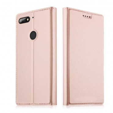 """Divatos """"Skin"""" műbőr tárca Huawei Y7 Prime 2018 / Y7 2018 készülékekhez – rózsaszín"""