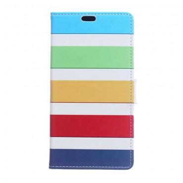 "Divatos ""Color Stripes"" tárca Huawei Y7 Prime 2018 / Y7 2018 készülékekhez"