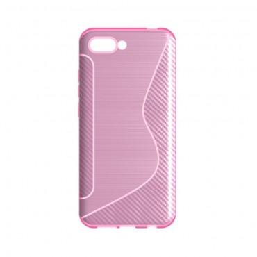 """TPU gél tok """"S-Line"""" Huawei Honor 10 készülékekhez - rózsaszín"""