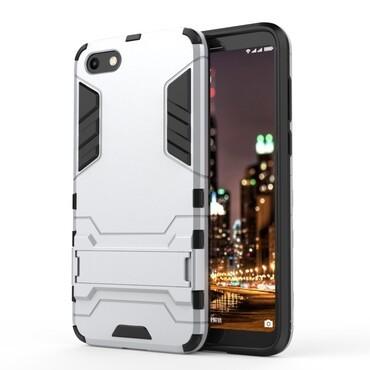 """Strapabíró """"Impact X"""" védőtok Huawei Y5 2018 / Y5 Prime 2018 - roza készülékekhez – ezüstszínű"""