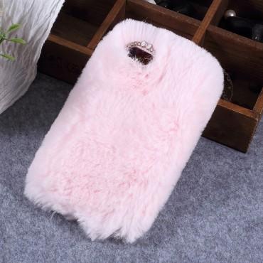Fluffy divatos védőtok Huawei Y5 2018 / Y5 Prime 2018 - roza készülékekhez – rózsaszín