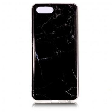 Marble divatos védőtok Huawei Y5 2018 / Y5 Prime 2018 - roza készülékekhez – fekete