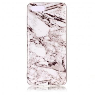 Marble divatos védőtok Huawei Y5 2018 / Y5 Prime 2018 - roza készülékekhez – fehér