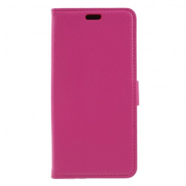 """Elegáns """"Litchi"""" tárca Huawei Y5 2018 / Y5 Prime 2018 - roza készülékekhez – rózsaszín"""