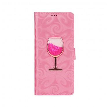 """""""Glass"""" műbőrtárca Samsung Galaxy Note 9 készülékekhez – rózsaszín"""