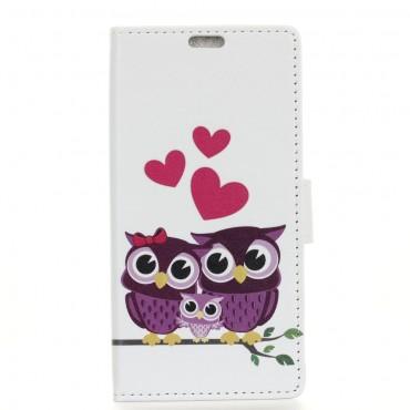 """Divatos """"Owl Love"""" tárca Huawei Mate 20 Lite készülékekhez"""