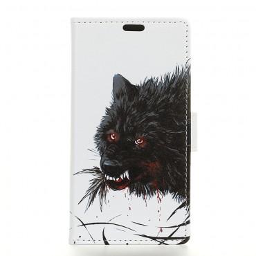 """Divatos """"Wolf"""" tárca Huawei Mate 20 Lite készülékekhez"""