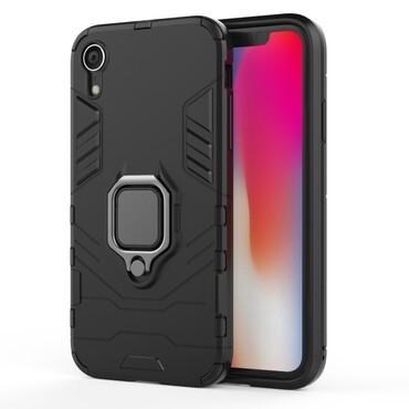 """Strapabíró """"Impact X Ring"""" védőtok iPhone XR készülékekhez – fekete"""