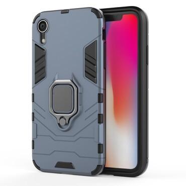 """Strapabíró """"Impact X Ring"""" védőtok iPhone XR készülékekhez – ezüstszínű"""