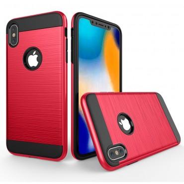 Brushed TPU géles védőtok iPhone XR készülékekhez – piros