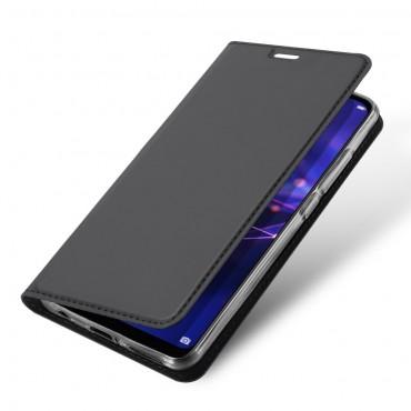 """Divatos """"Skin"""" műbőr tárca Huawei Mate 20 Lite készülékekhez – fekete"""