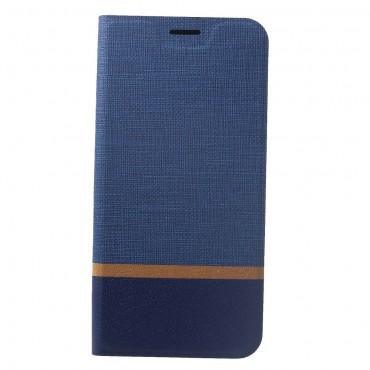 """Divatos nyitható tok """"Elegant Line"""" Huawei Mate 20 Lite készülékekhez - kék"""