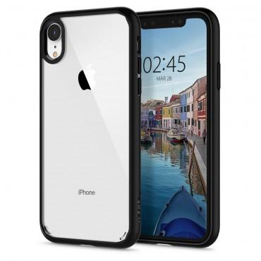 """Tok Spigen """"Ultra Hybrid"""" iPhone XR készülékekhez - matte black"""