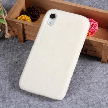 Furry divatos védőtok iPhone XR készülékekhez – fehér