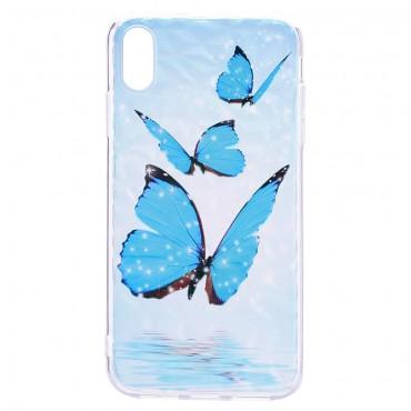 """Vékony TPU géles """"Blue Butterfly"""" védőtok iPhone XR készülékekhez"""