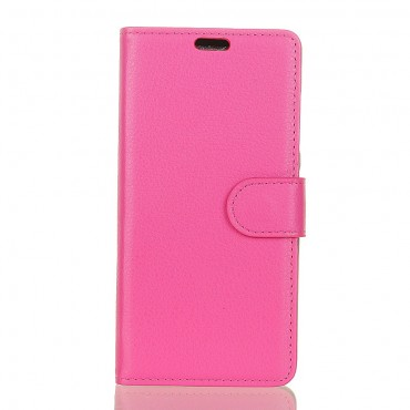 """Elegáns """"Litchi"""" tárca iPhone XR készülékekhez – rózsaszín"""
